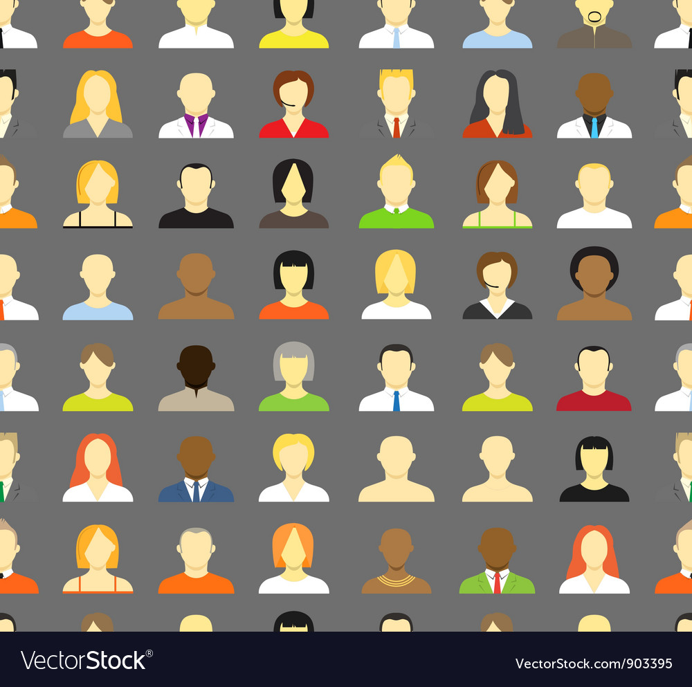 Account icons seamless background vector