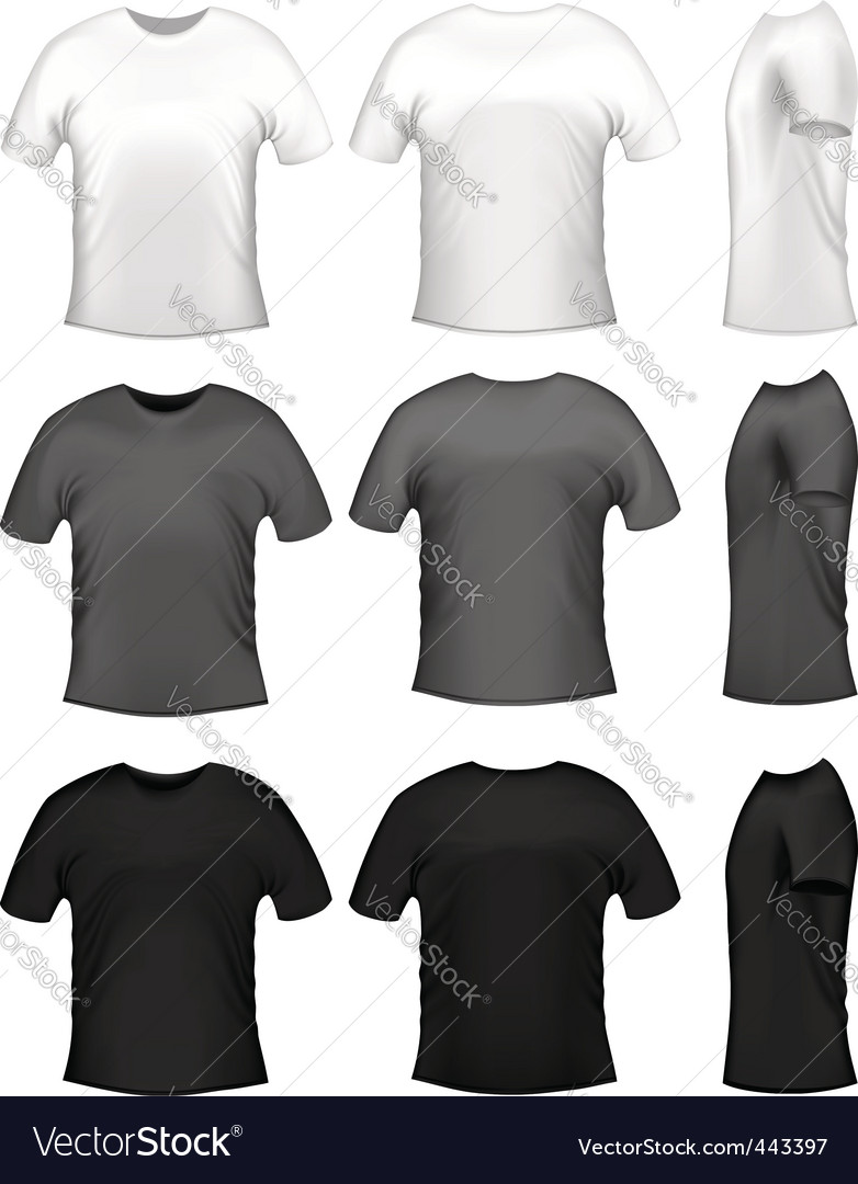 Mens tshirts vector