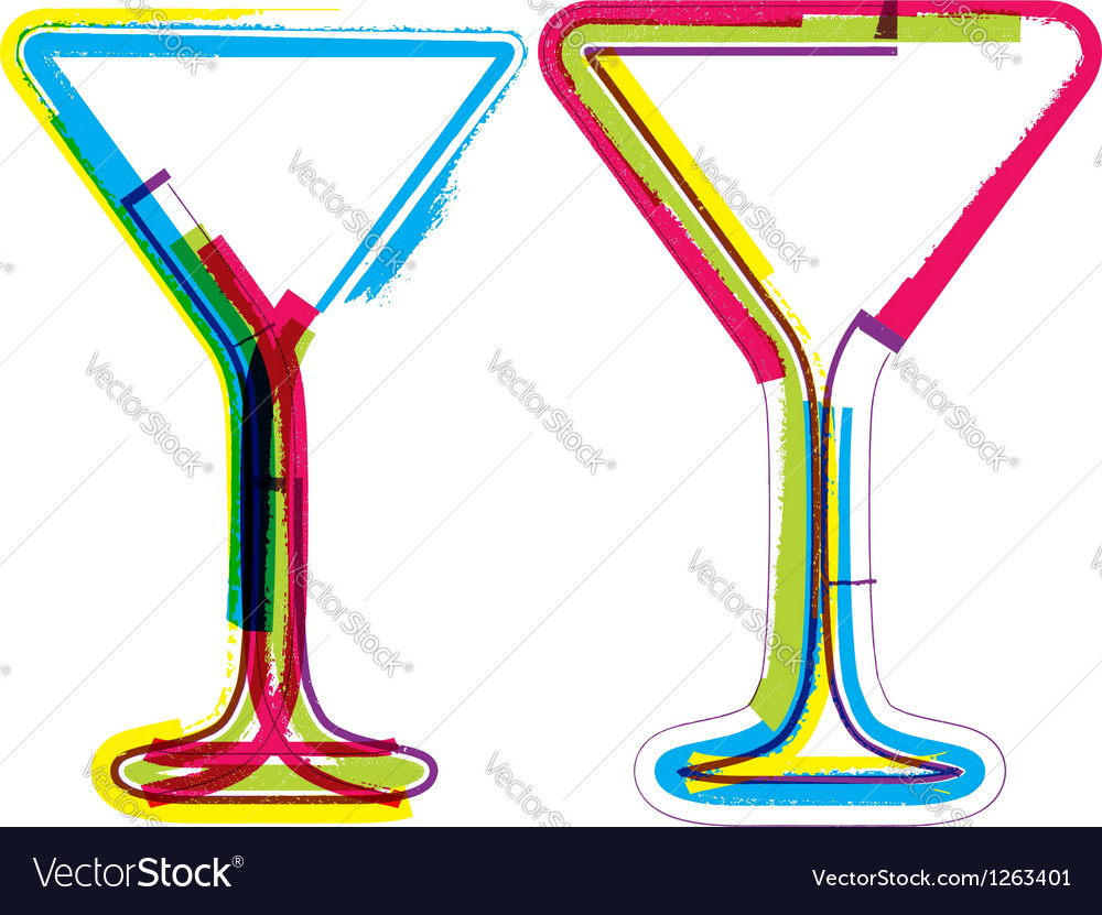 Glasses of wine vector