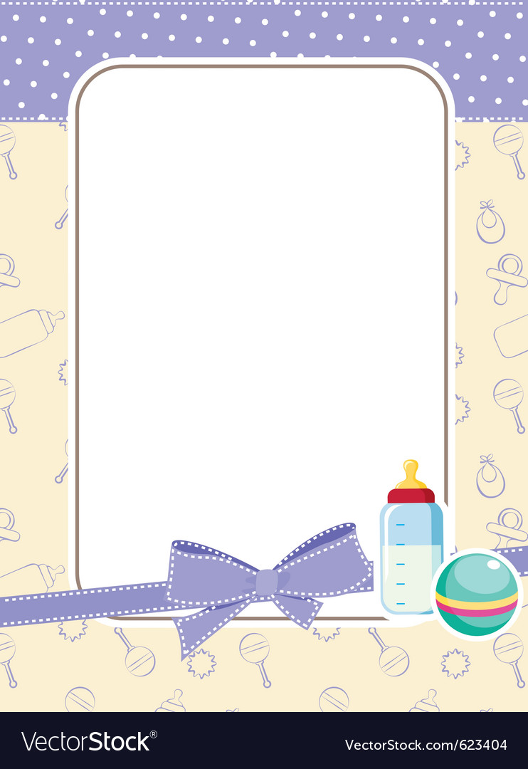 Baby frame with toys vector by iaRada - Image #623404 - VectorStock