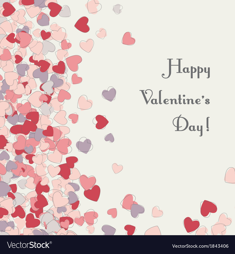 Heart card valentines day vector