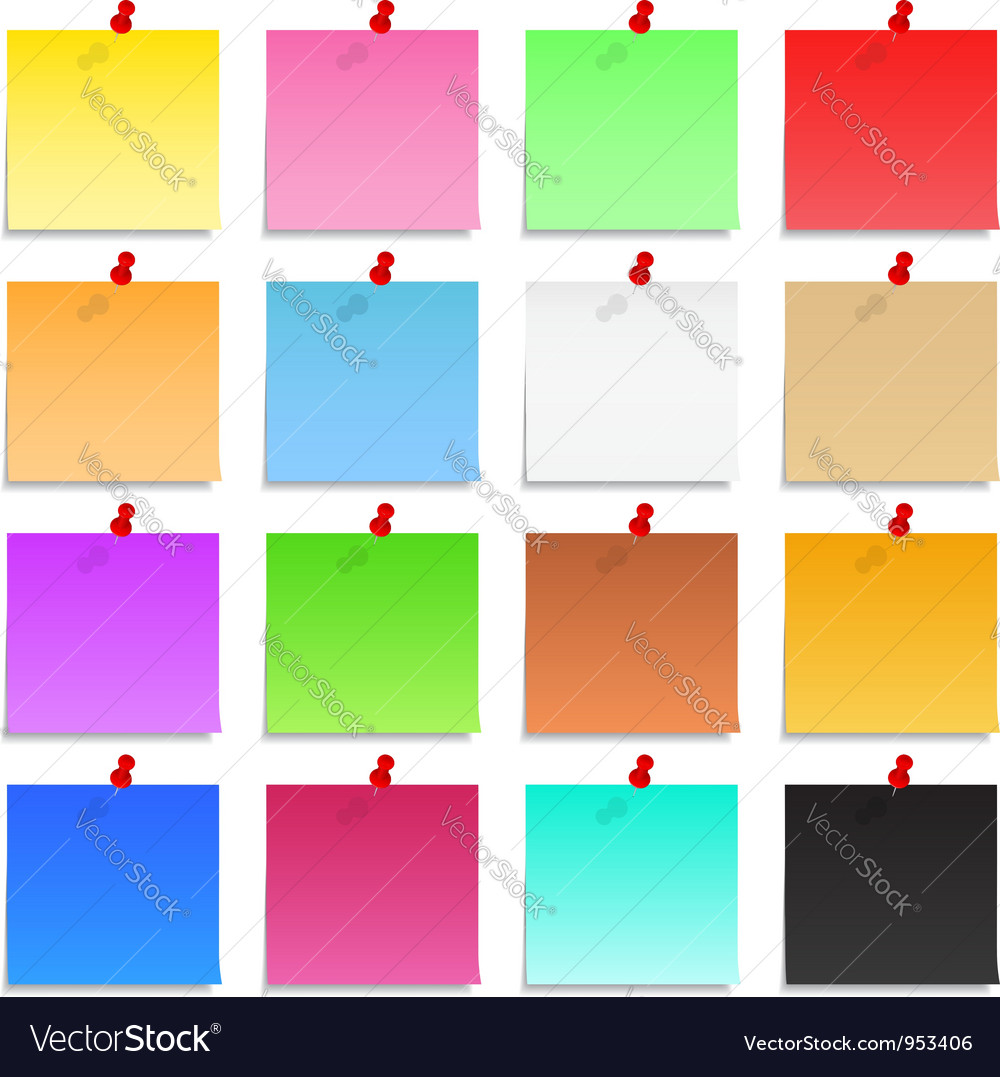 Postit notes vector