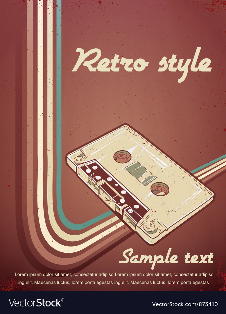Free retro concert poster vector