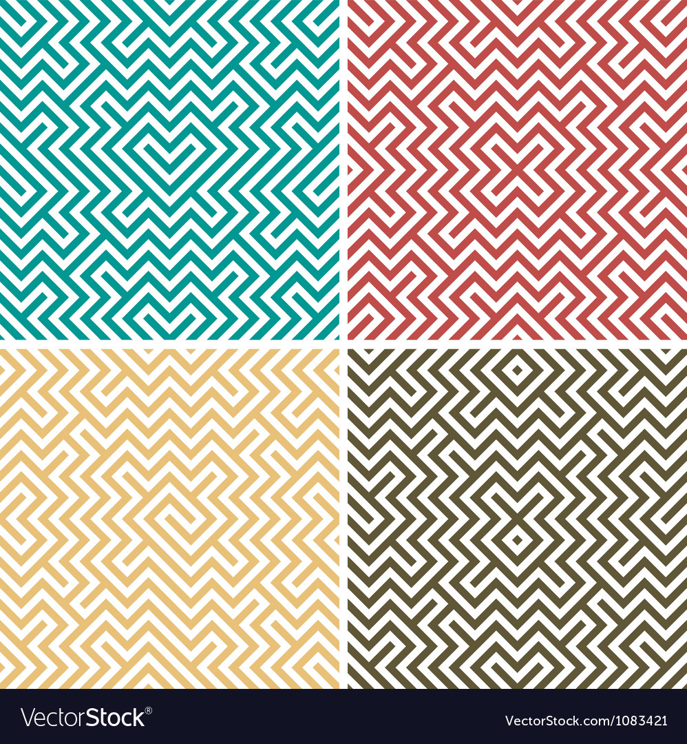 Geometric seamless set vector