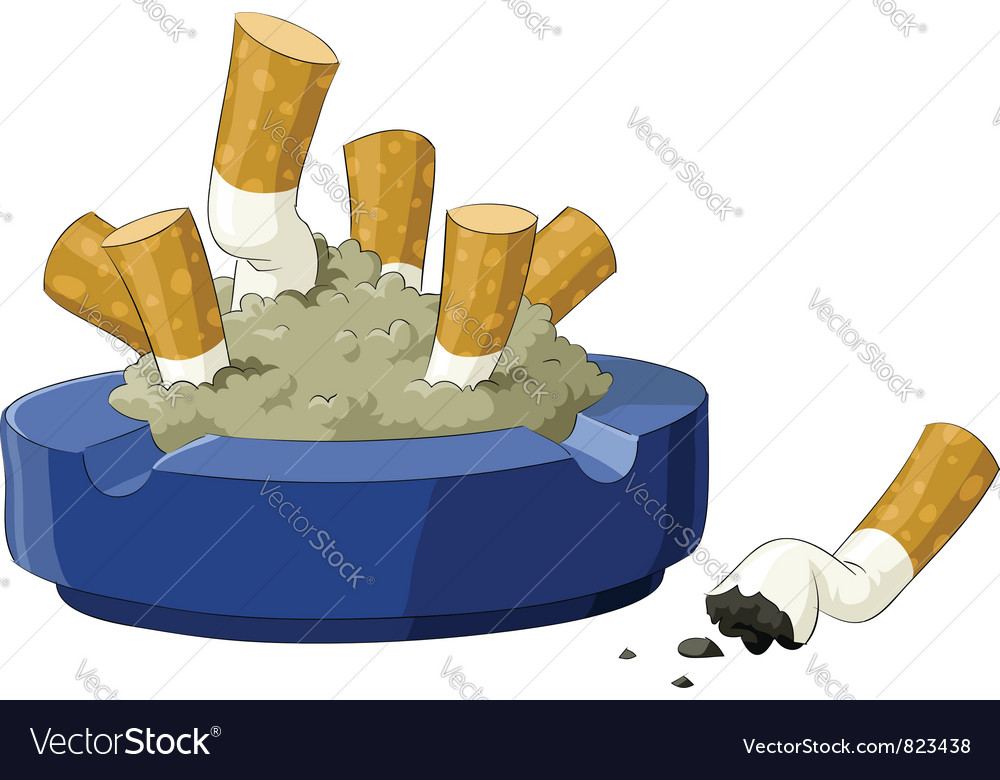 Ashtray vector
