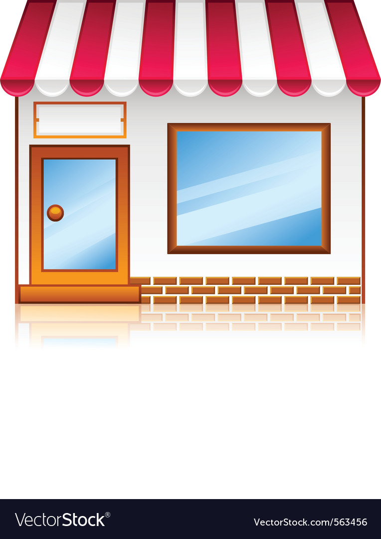 Market shop vector
