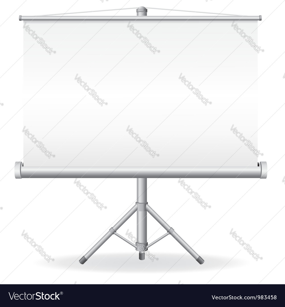 Projection screen vector