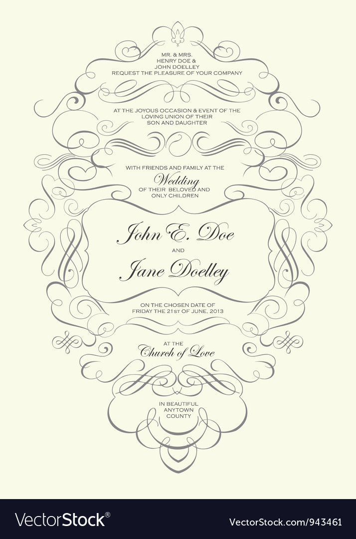 Fancy Invitation Templates as perfect invitations ideas