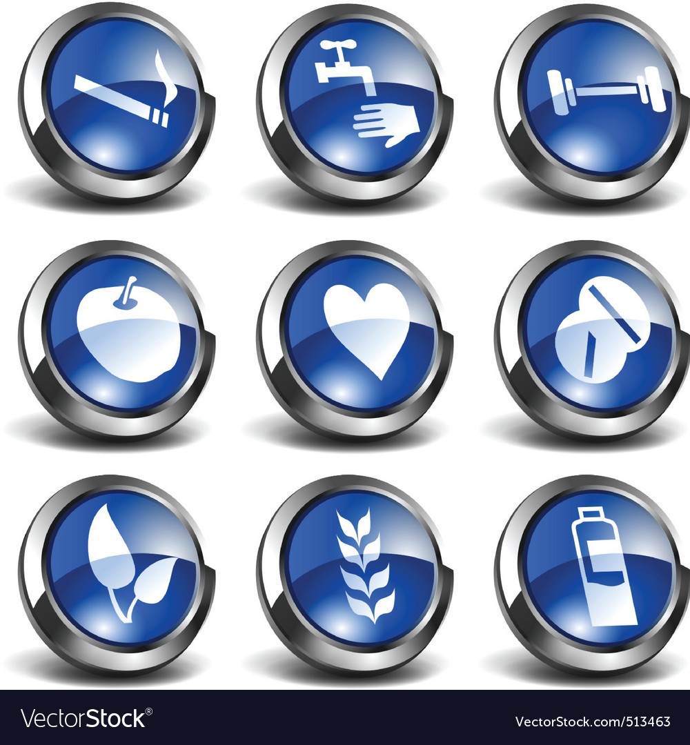 3d health and medical icons se vector