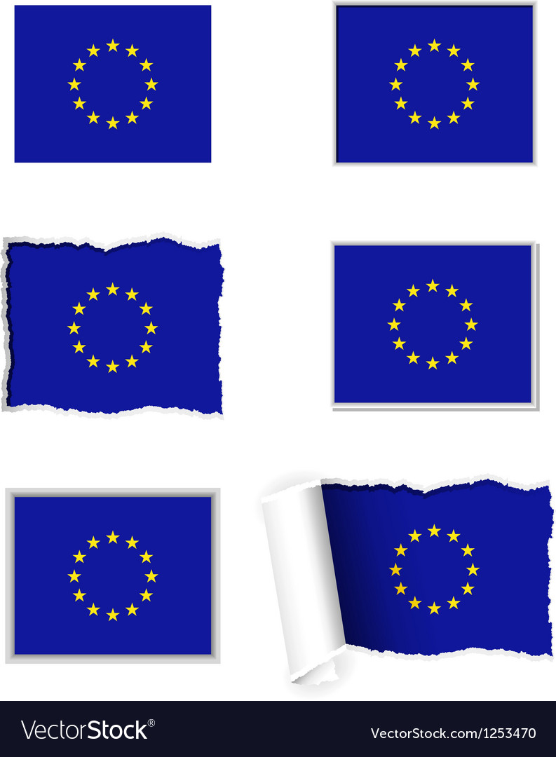 European union flag set vector