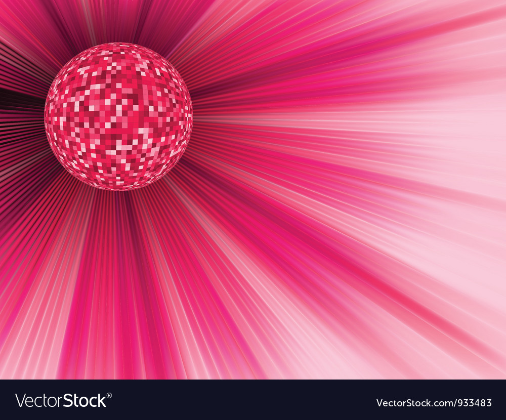 Disco ball party banner vector