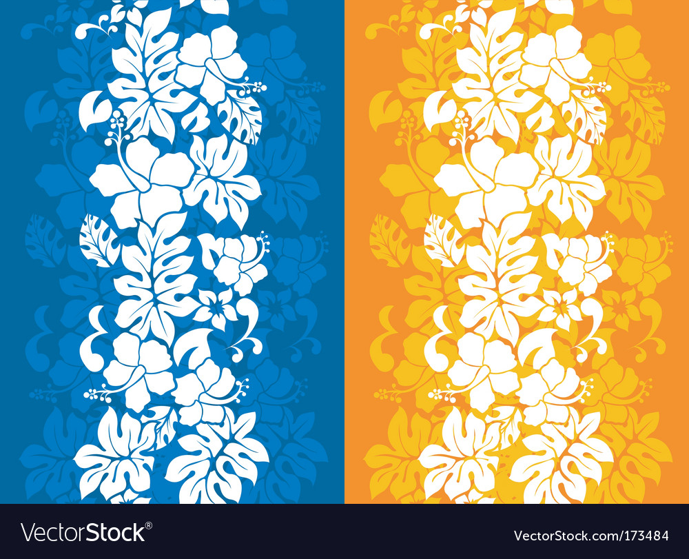 Hawaiian floral background vector