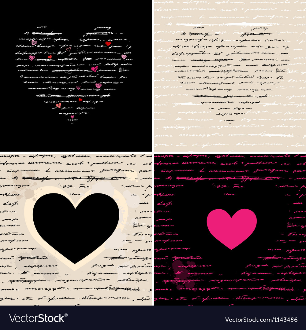 Free heart set love background vector