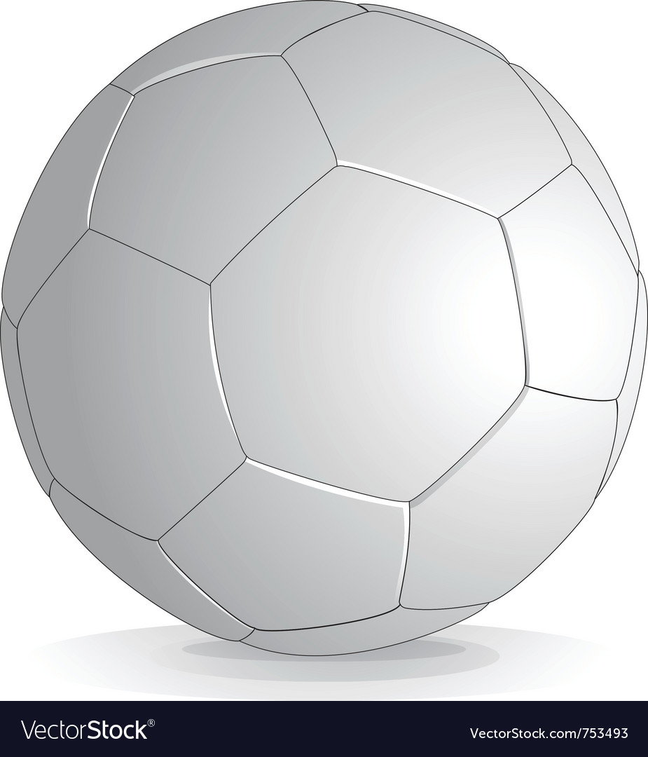 Soccer ball isolated on white background vector