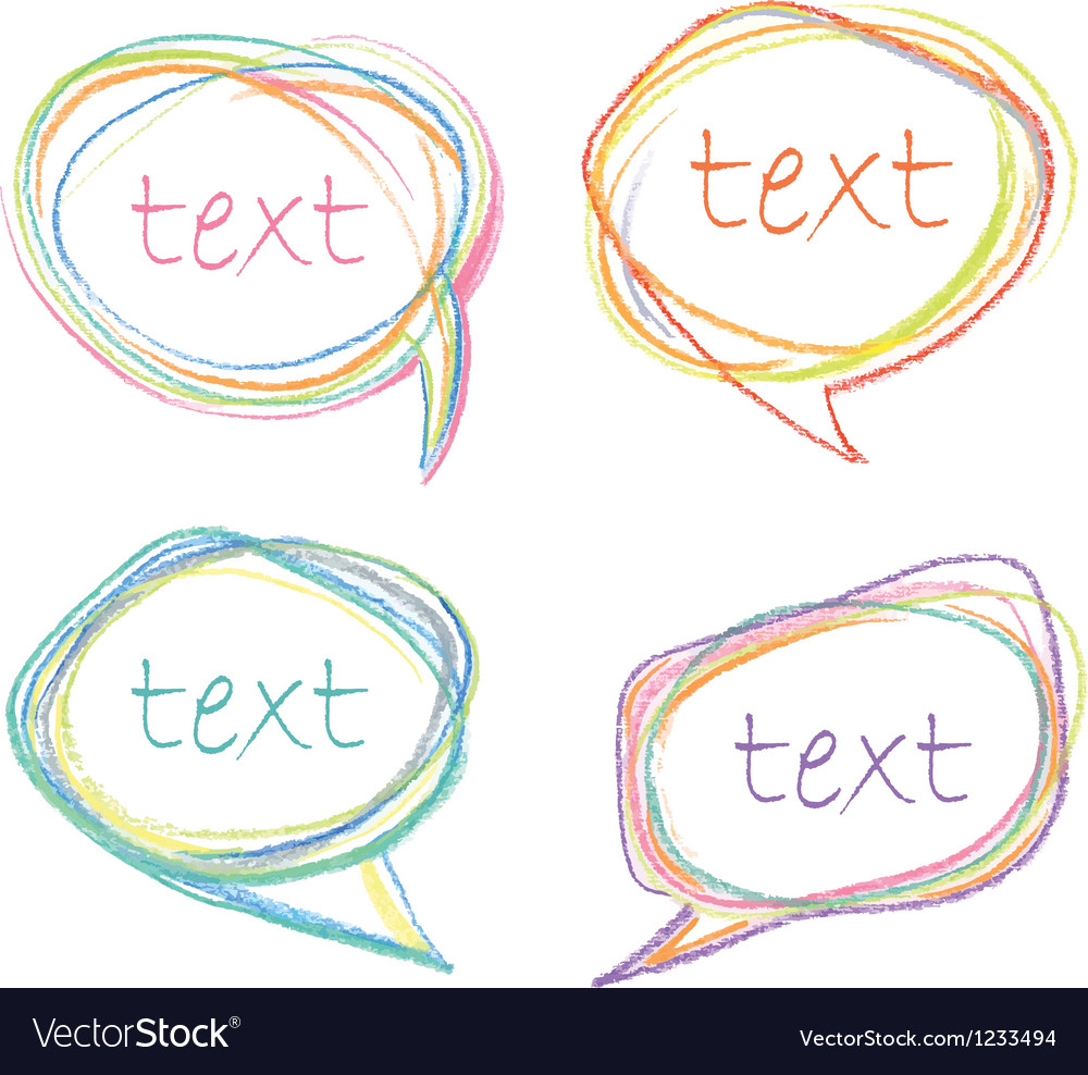 Sketch speech bubbles vector