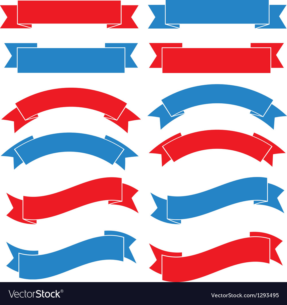Set of old ribbon banner eps10 vector