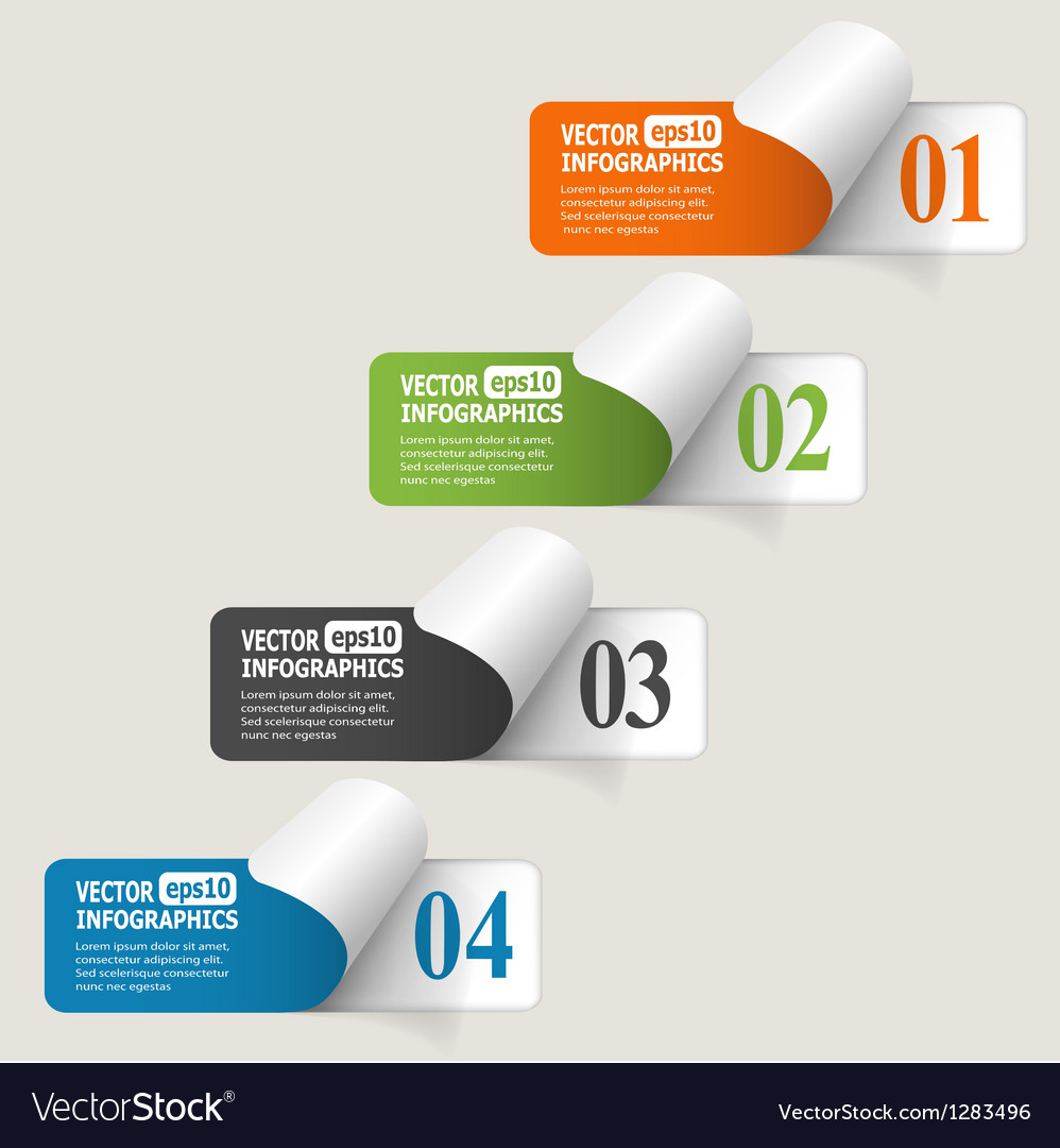 Abstract paper infografics vector