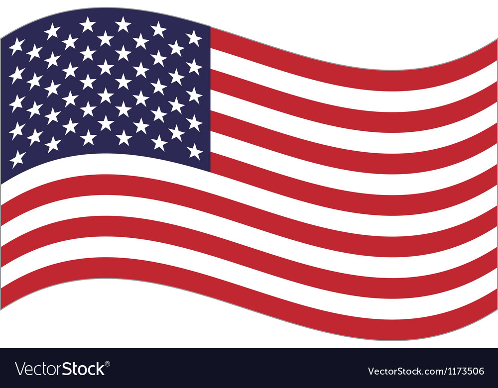 Us flag vector