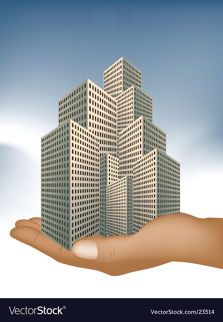 Corporate office building vector