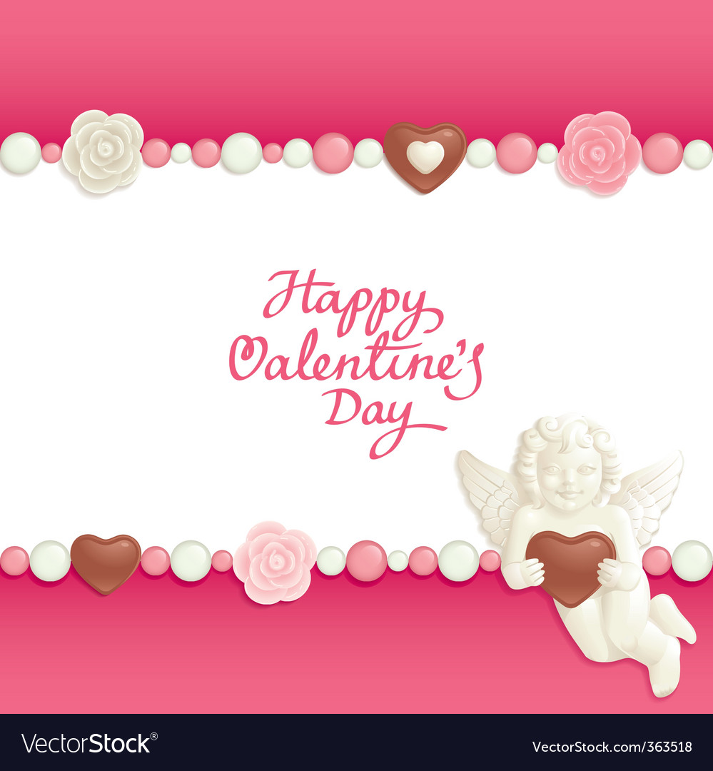 Valentine candy background vector