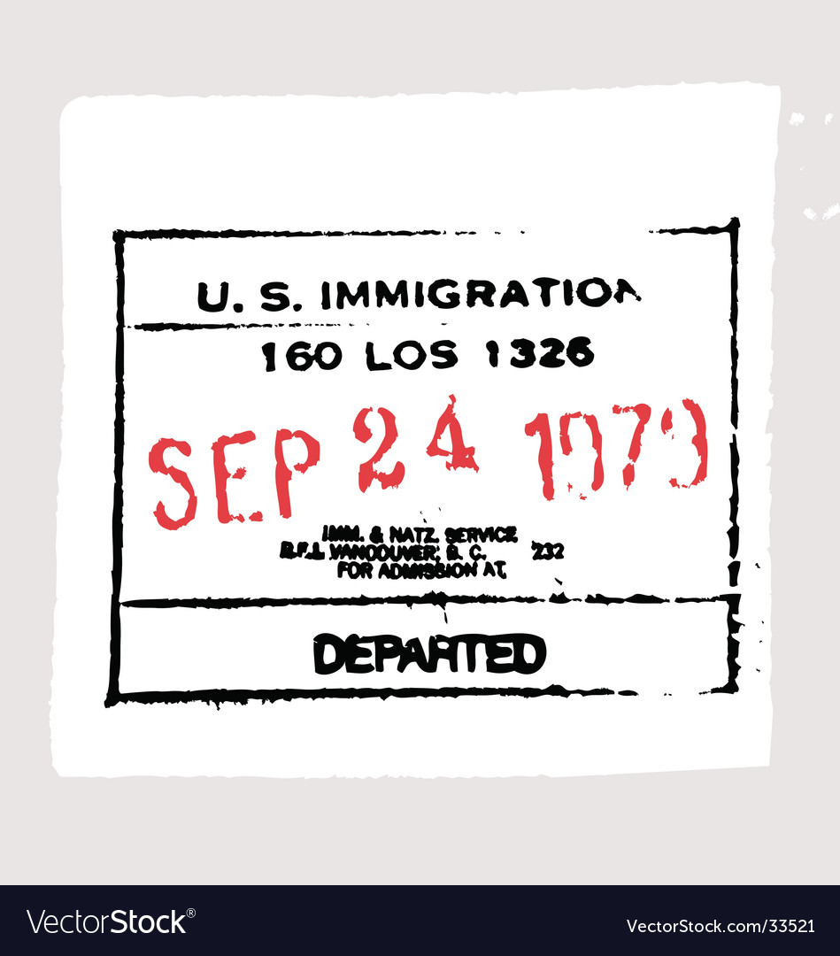 Free lax departed passport stamp vector