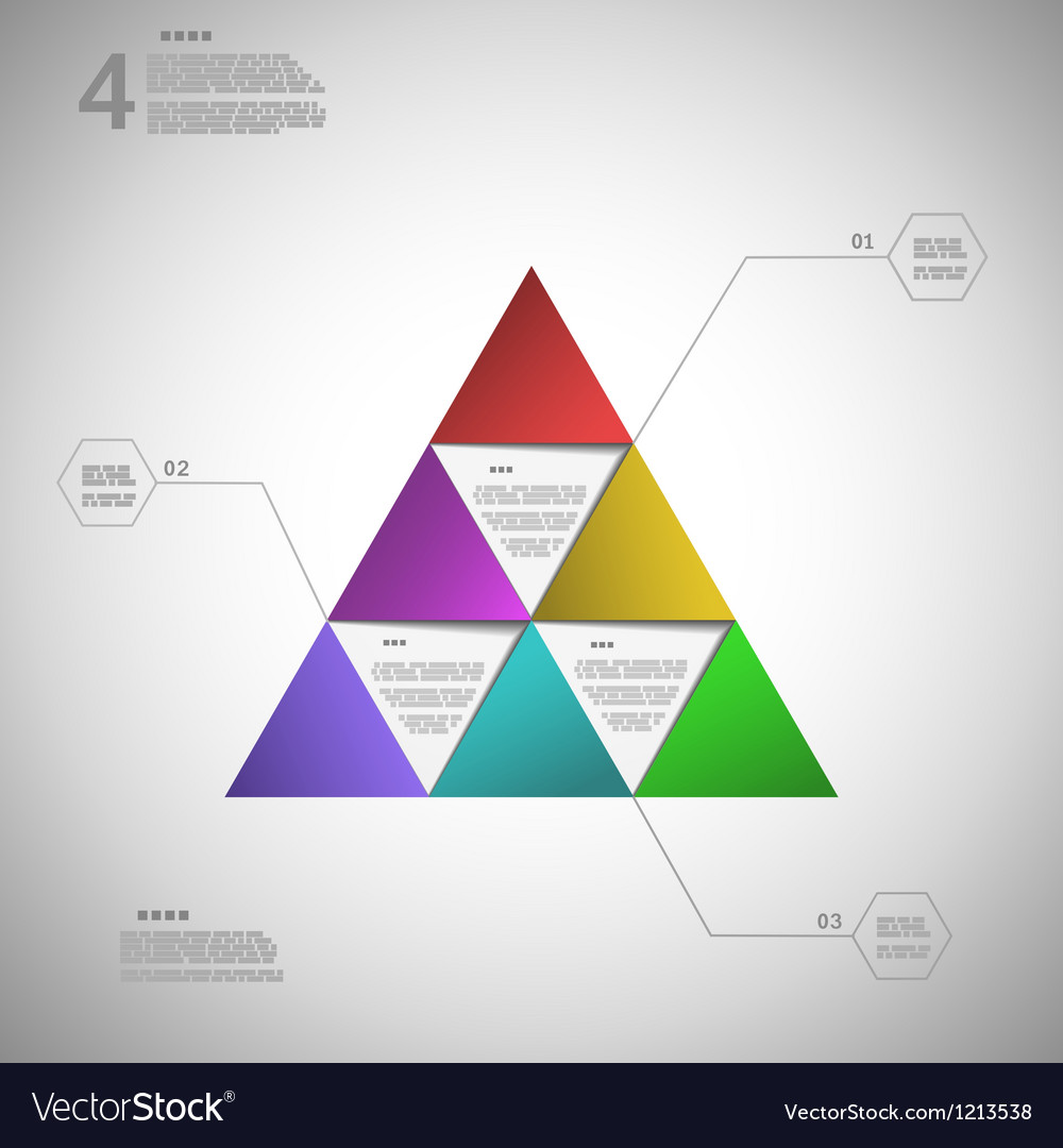 Colorful triangle for data presentation vector