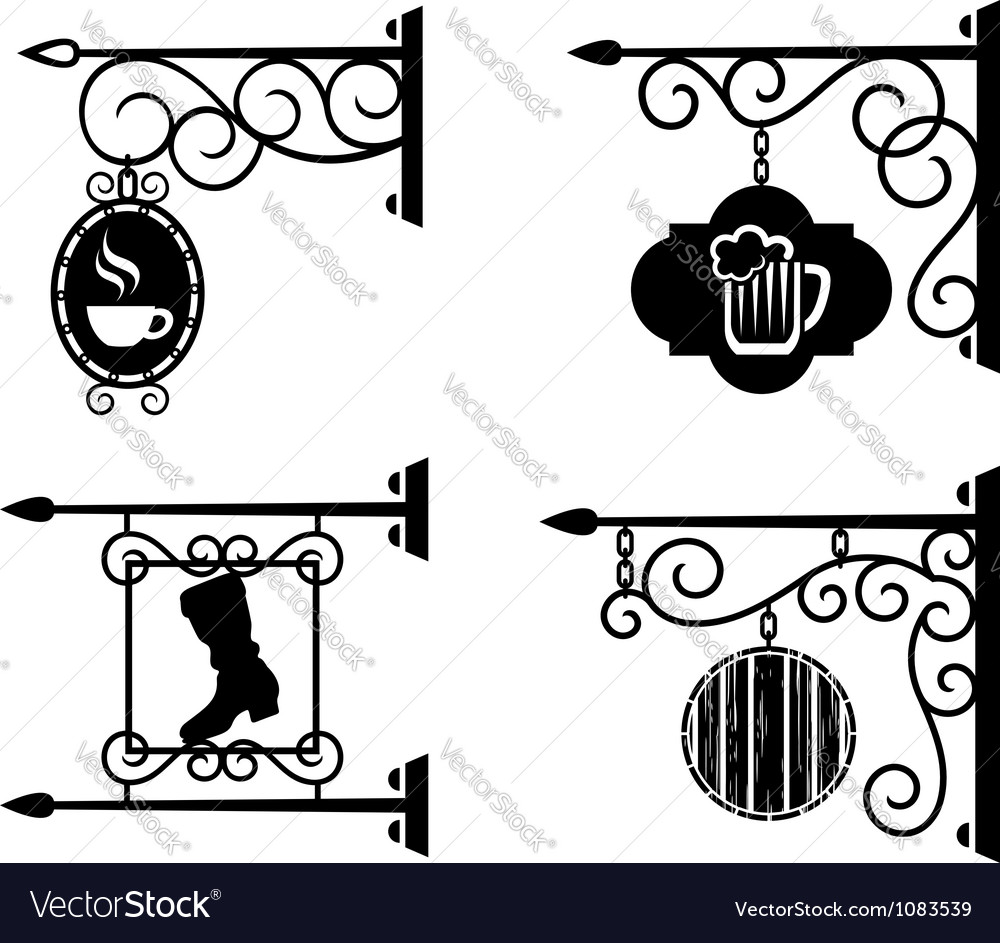 Advertising signs vector