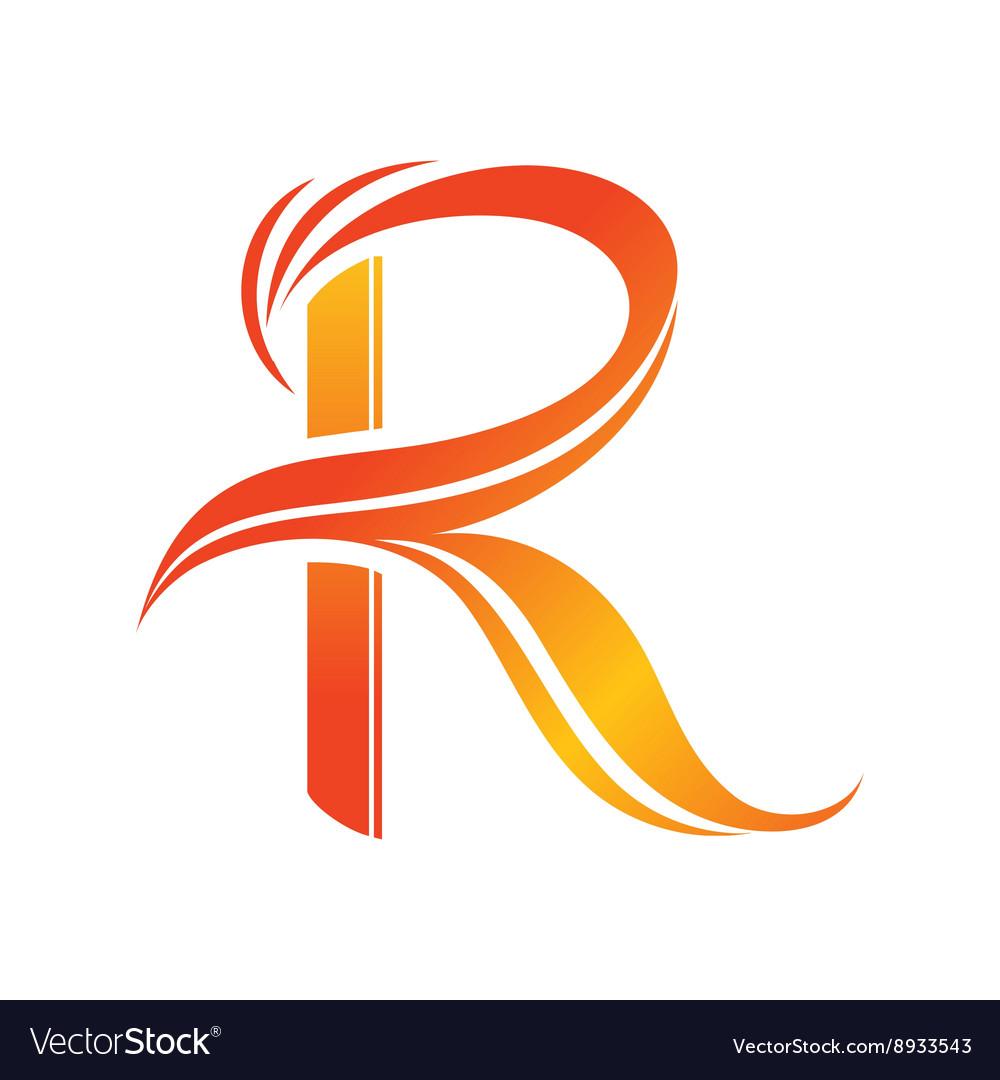 Letter r logo de...R Design Letter