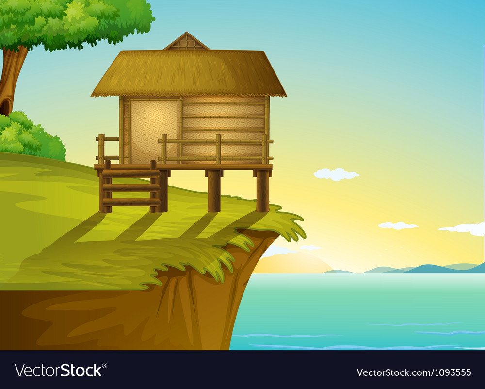 Thai house on top vector