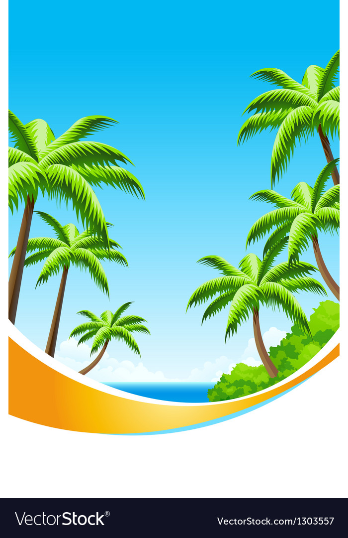 Background summer vacation vector