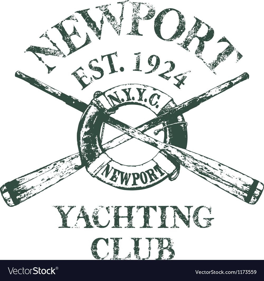 Yachting club vector