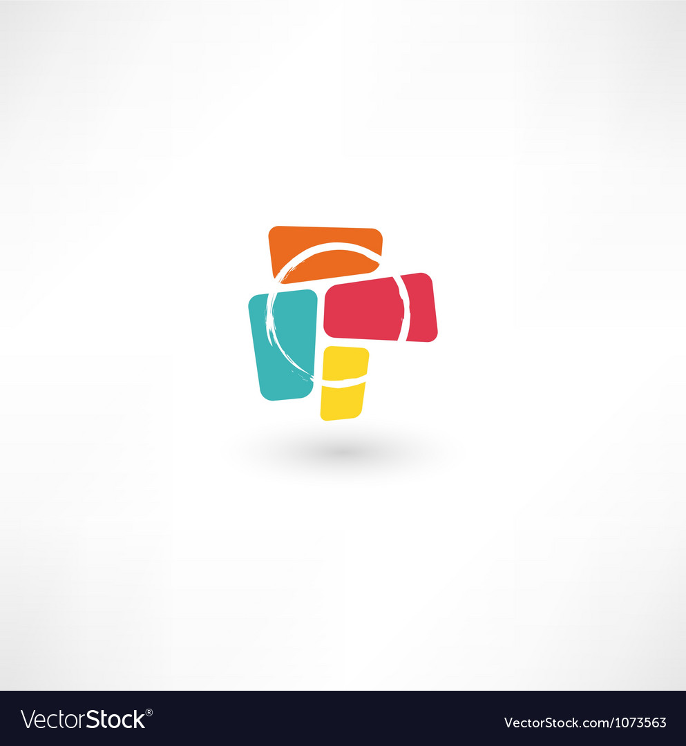 Business abstract icon vector