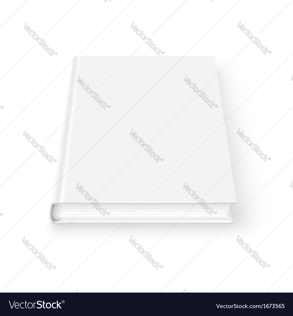 Blank book template vector
