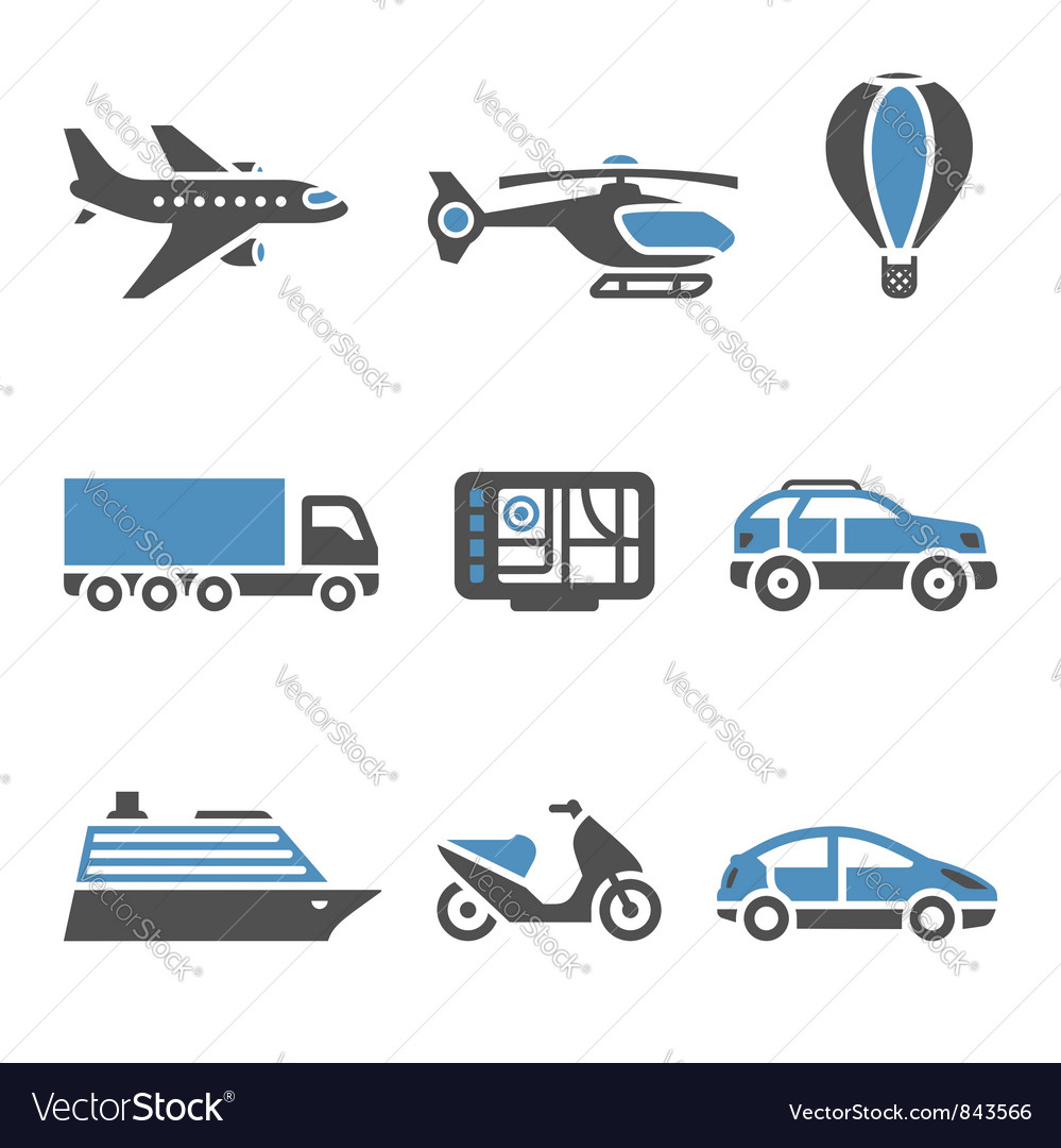 Transport icons  a set of second vector