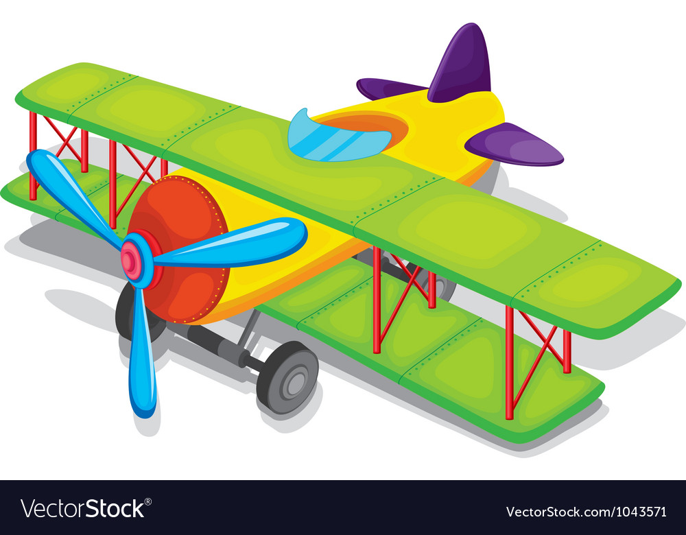 Toy propeller plane vector