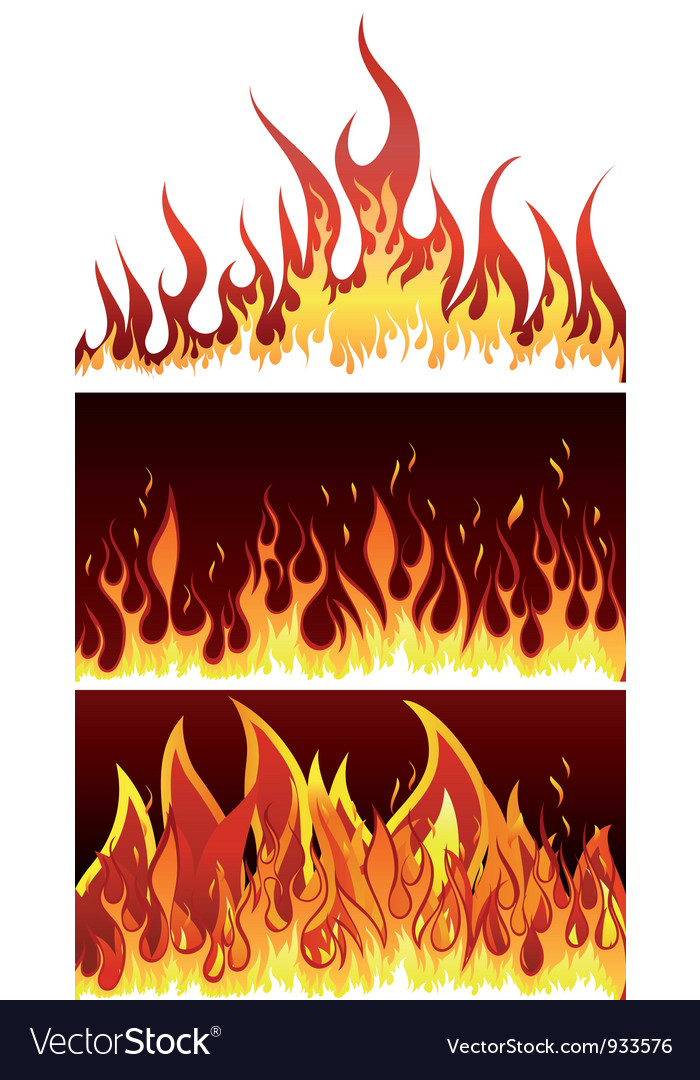 Fire backgr set vector