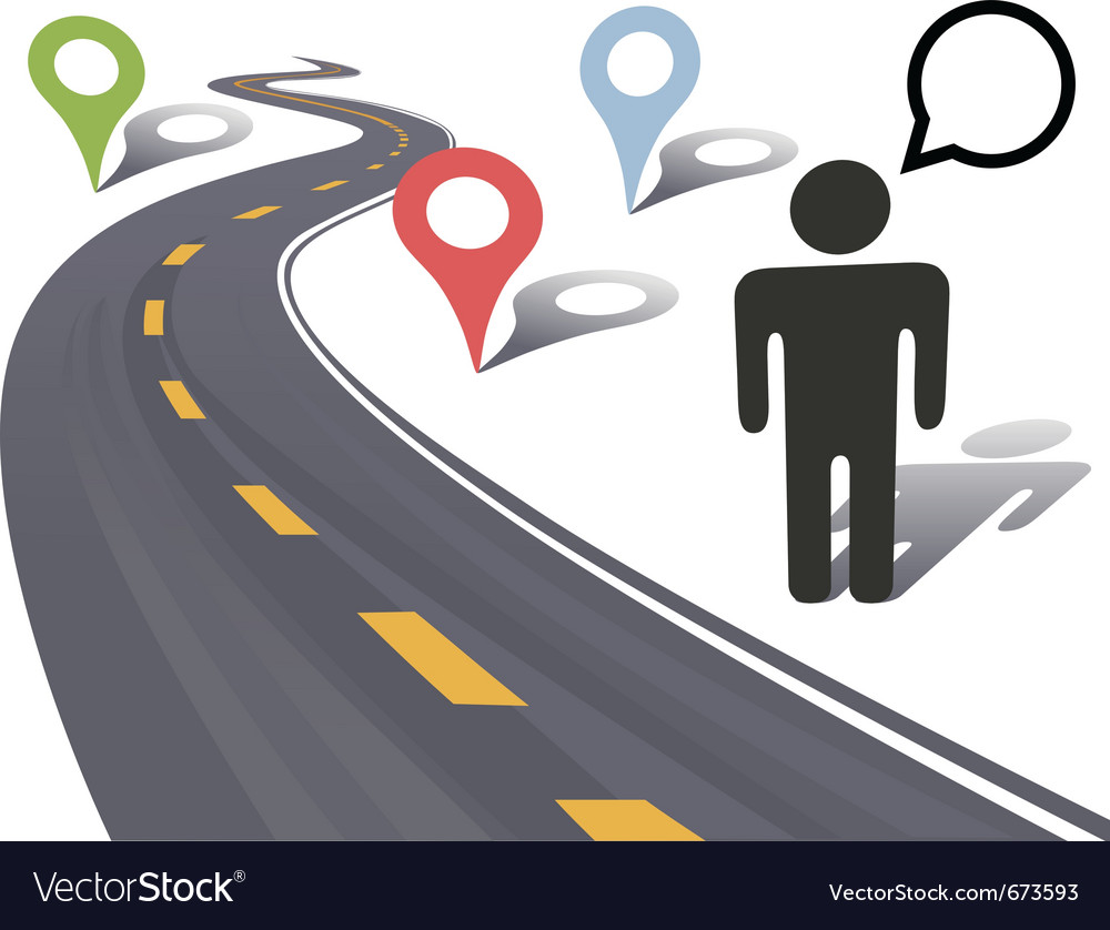 Traveling person vector