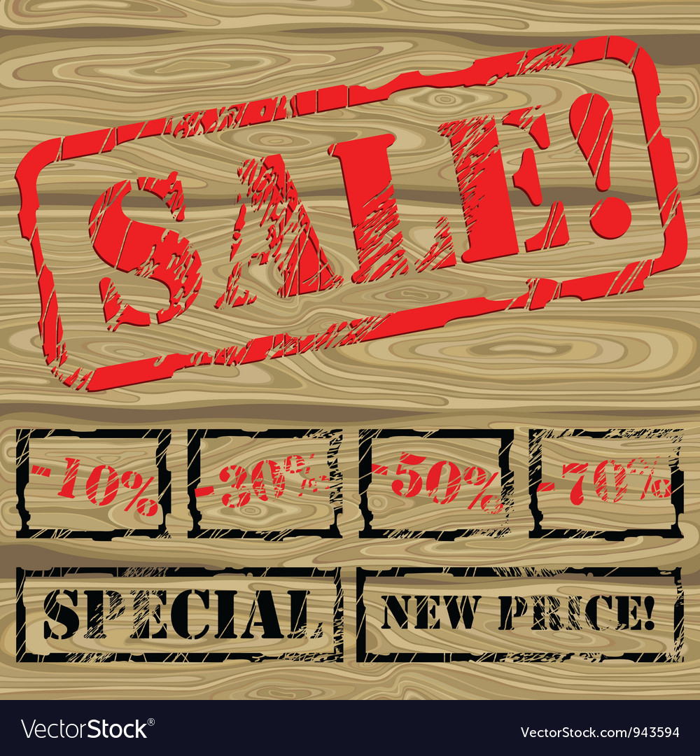 Background with stamp sale vector