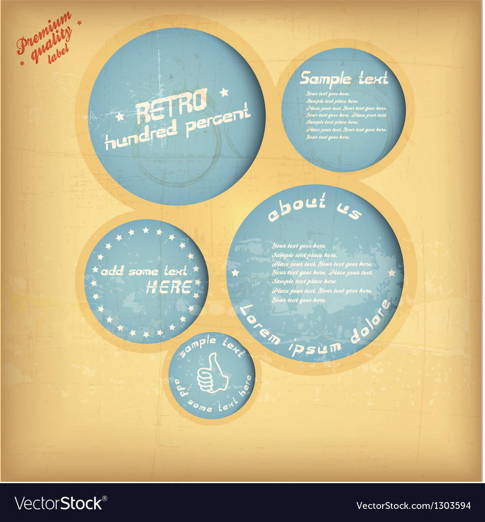 Retro speech circle vector