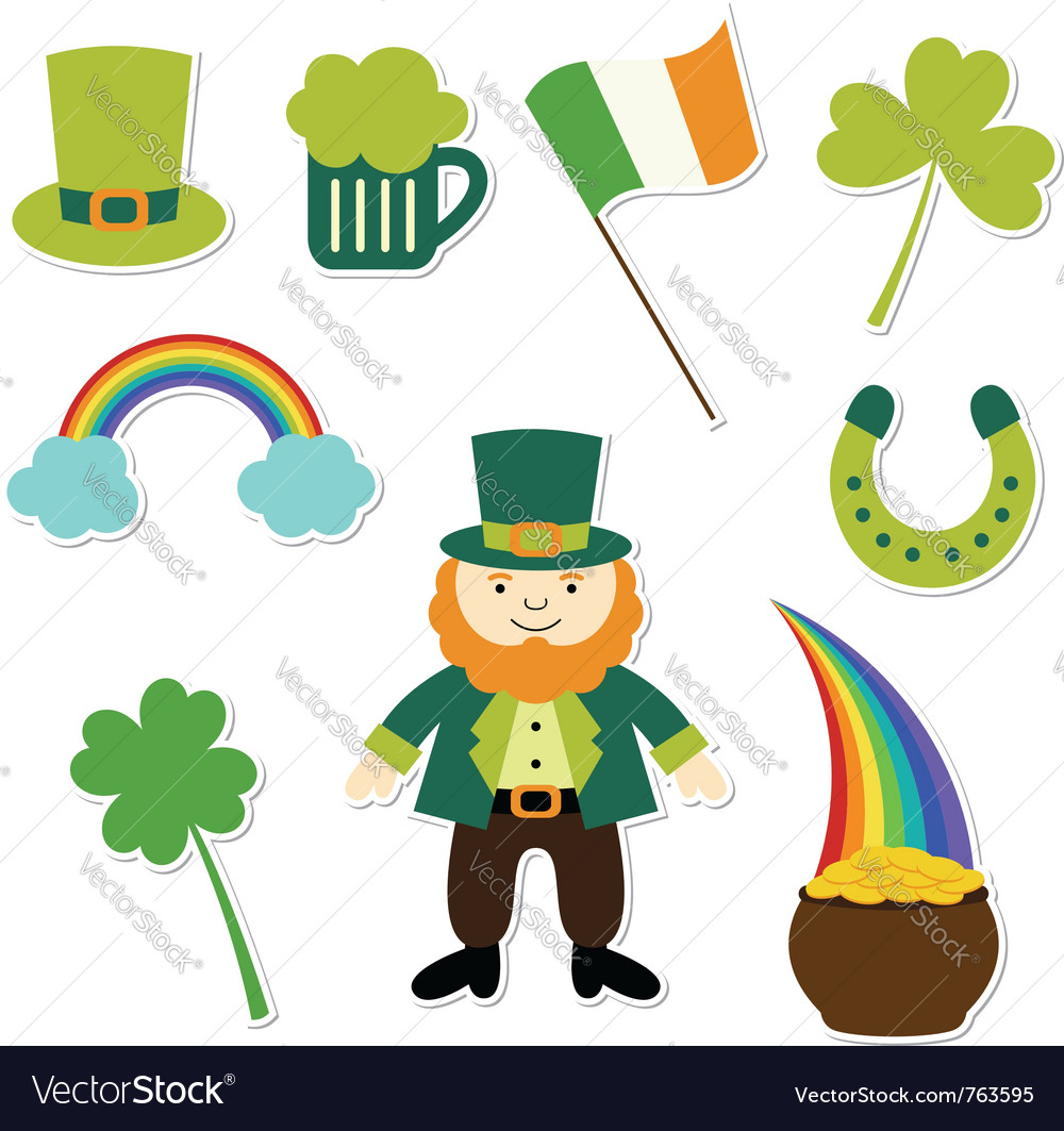 St patricks day set vector
