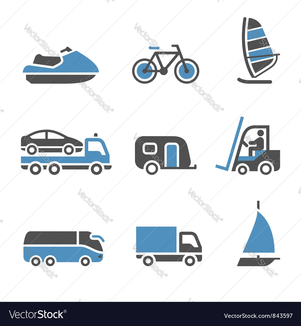 Transport icons  a set of third vector