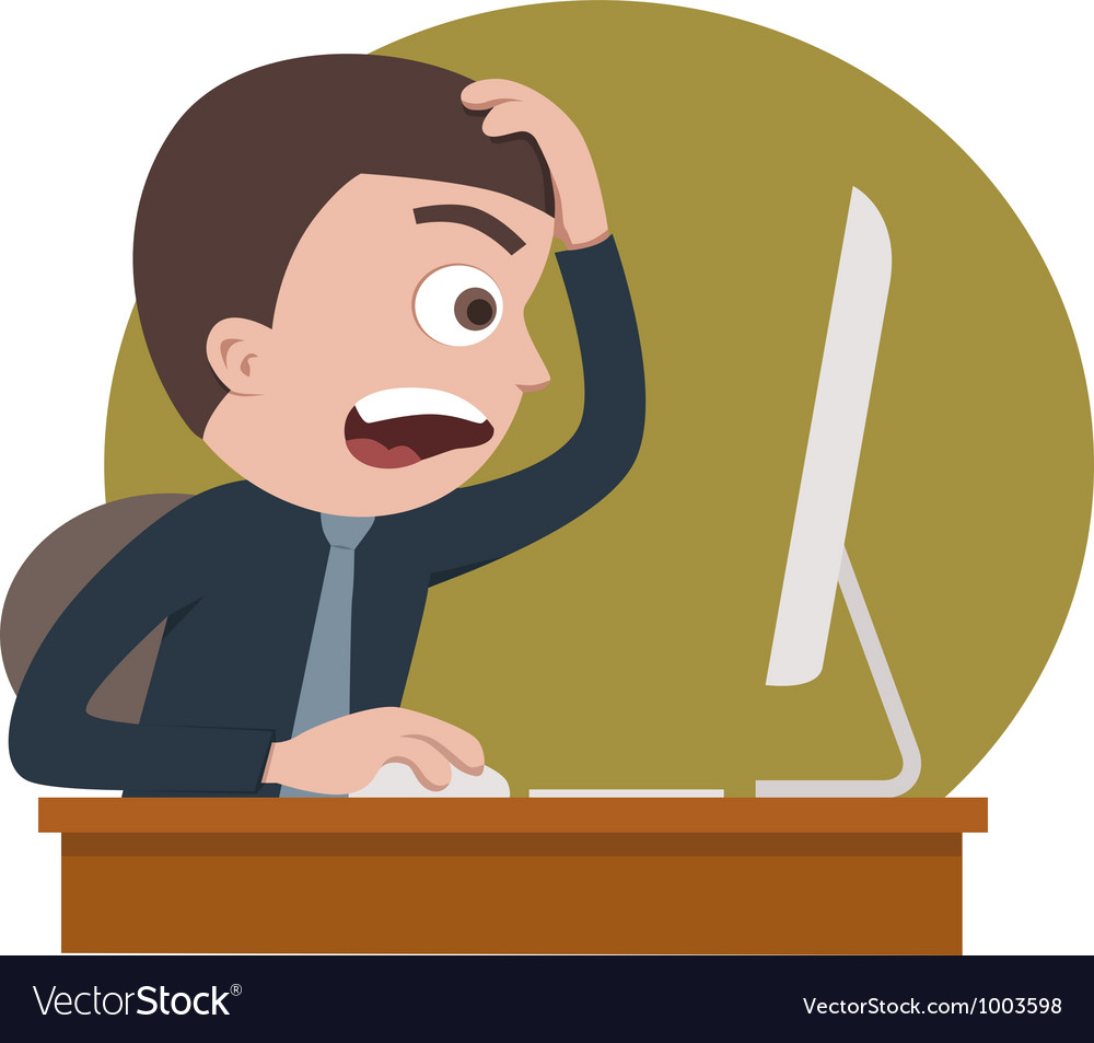 Shocked businessman vector