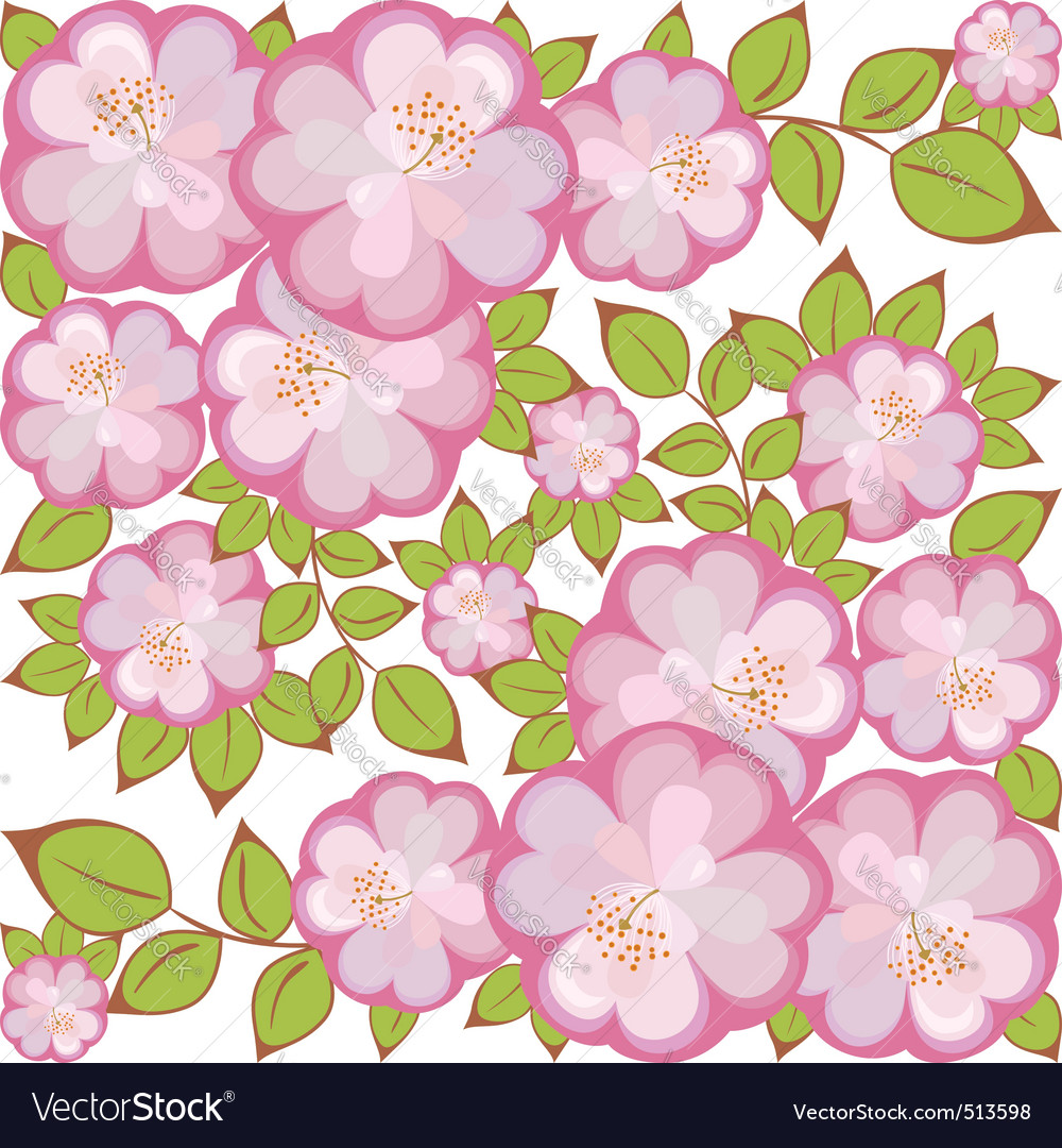 Square flower pattern vector