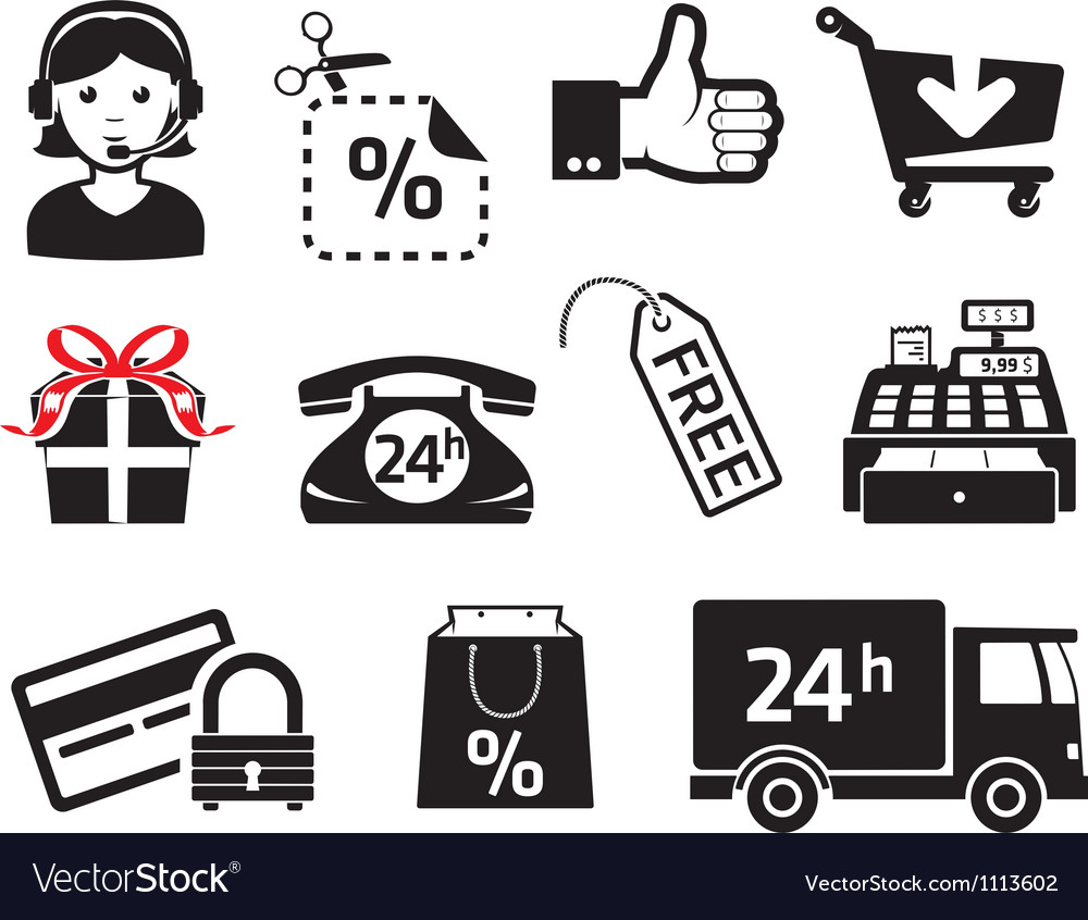 Sales icons vector