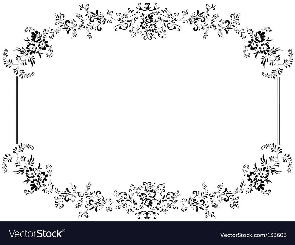 Vintage floral frame vector by SRNR - Image #133603 - VectorStock