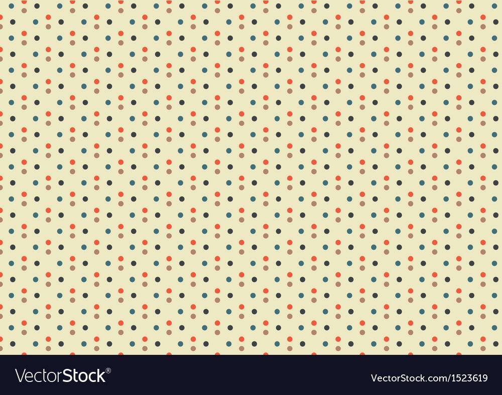 Beige multicolor polka dots seamless pattern
