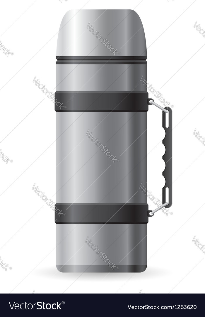 Icons thermos vector