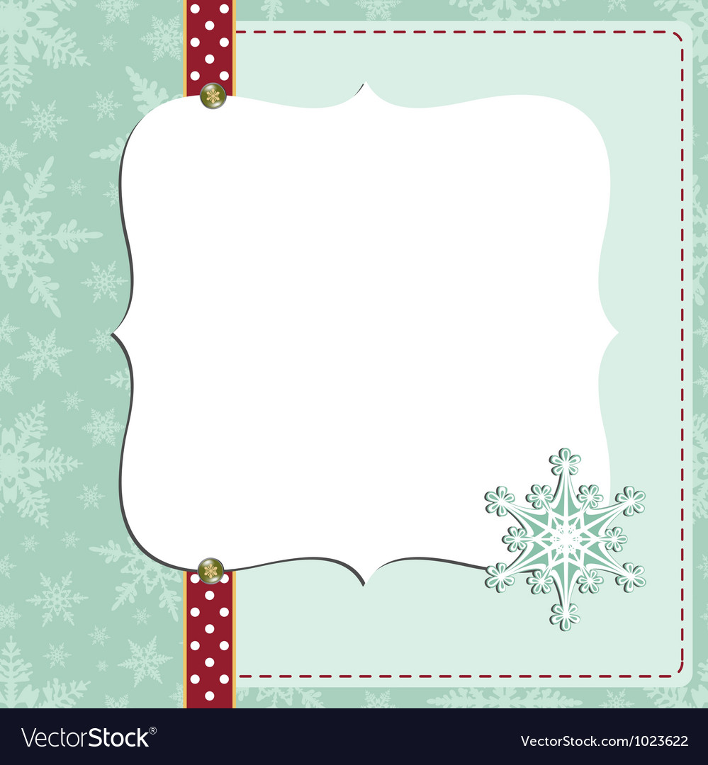Cute christmas new year postcard template vector