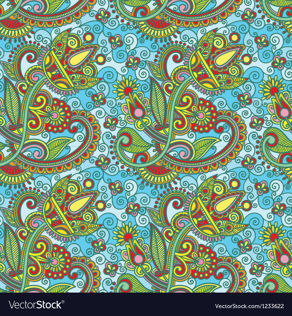 Hand draw ornate seamless pattern vector