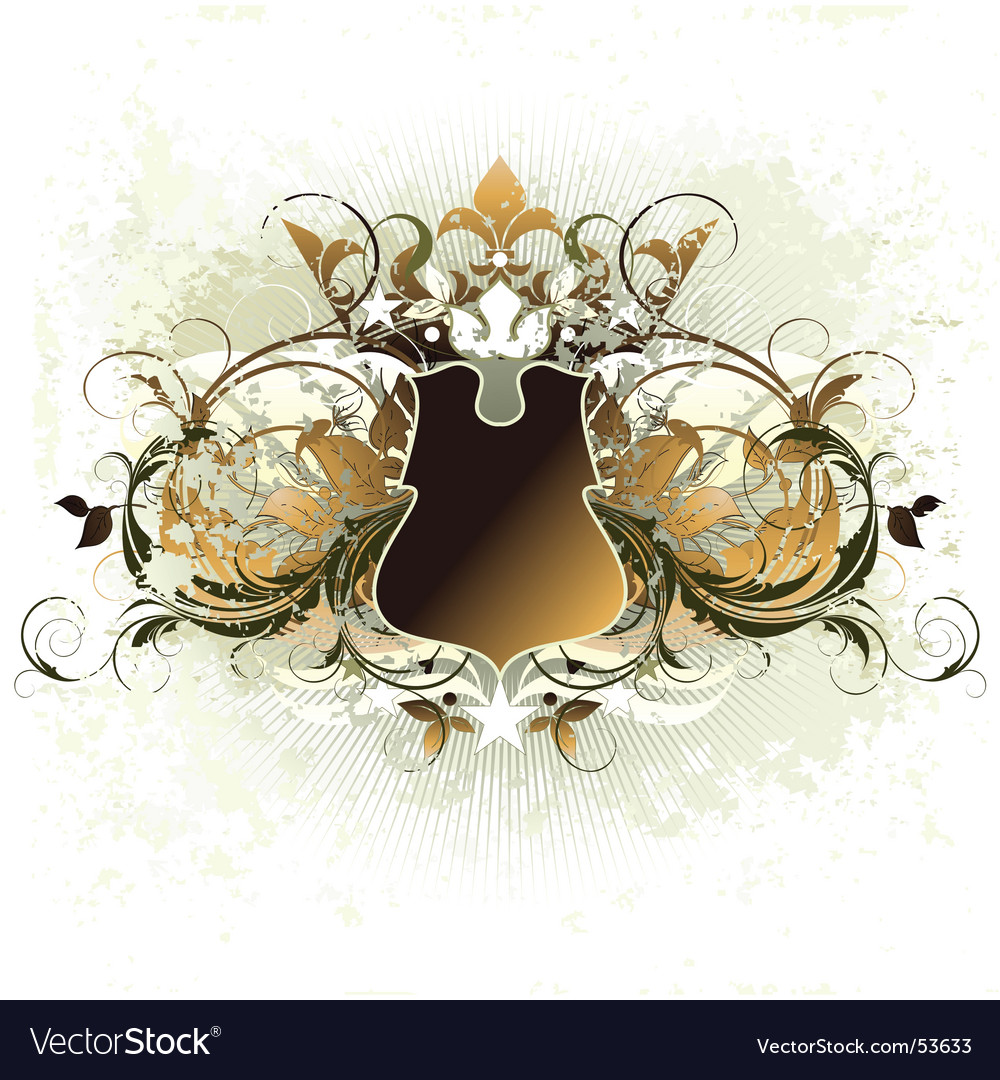 Ornamental shield vector